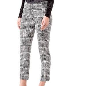 NWT Michael Kors Plaid Cigarette Cropped Pants XL